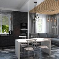 Дизайн интерьера в частном доме в стиле лофт. г. Буча