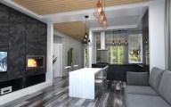 Дизайн интерьера в стиле лофт. Частный дом в г. Буча