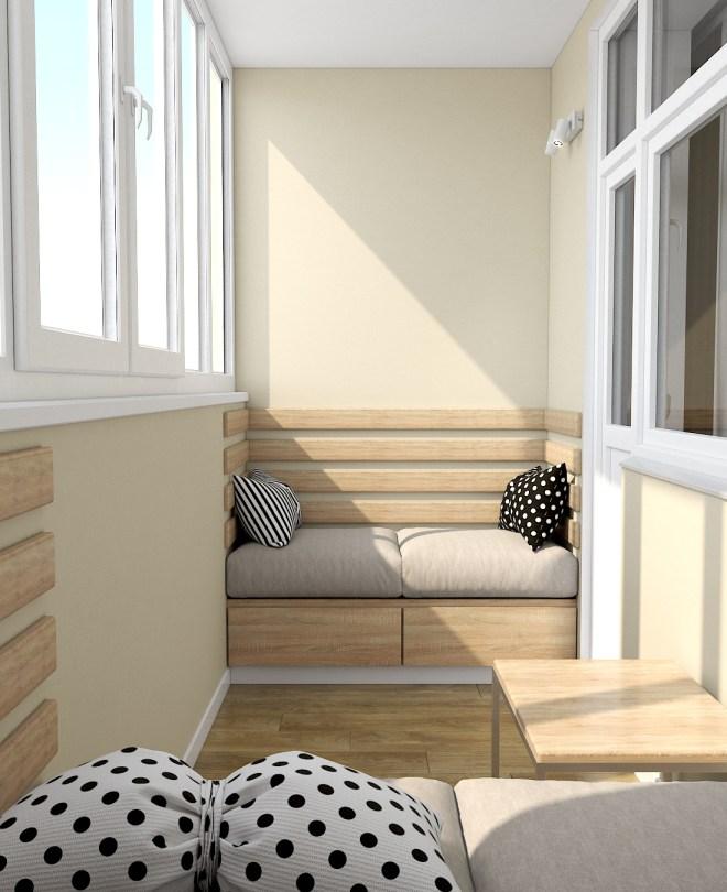 Дизайн интерьера. г. Киев. Балкон.