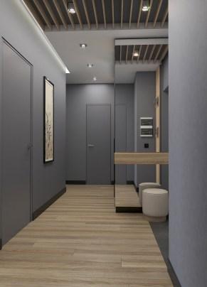Дизайн входной зоны в двухкомнатной квартире.