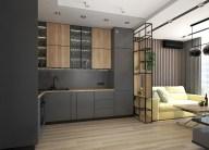Дизайн кухни в 2-х комнатной квартире. Обеденная зона. Рабочая зона.