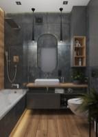 Дизайн удобной ванной комнаты.