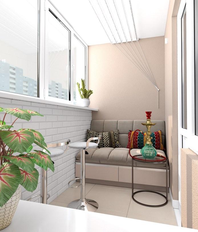 Балкон - место для отдыха.