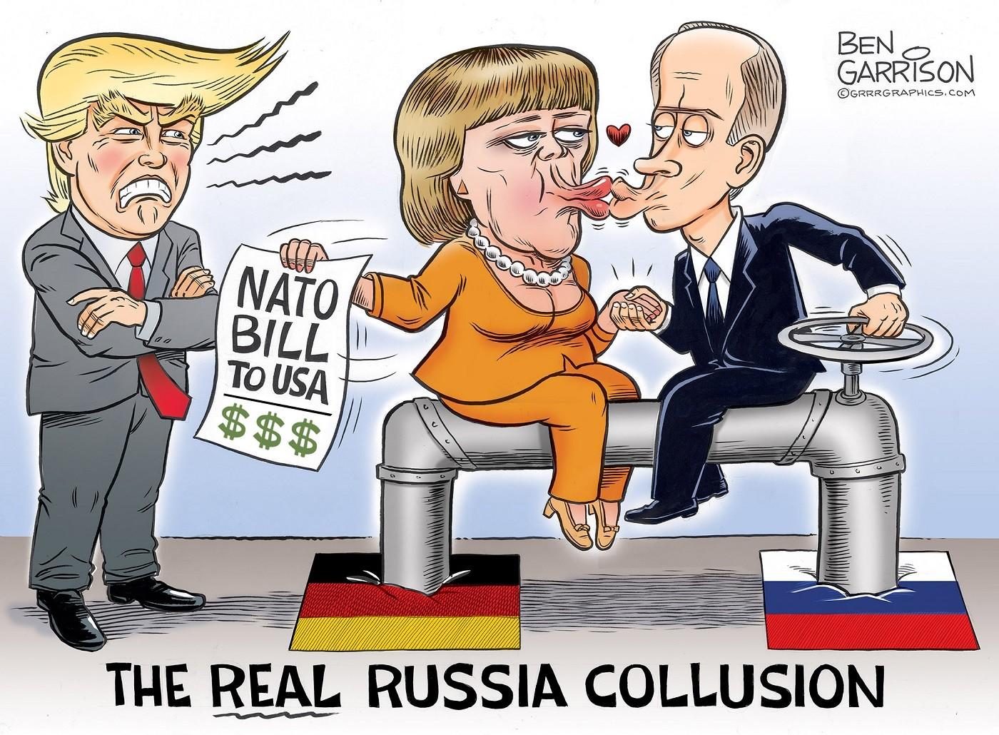 Merkel Flips Off Biden's Protest -- to Buy Putin's Gas
