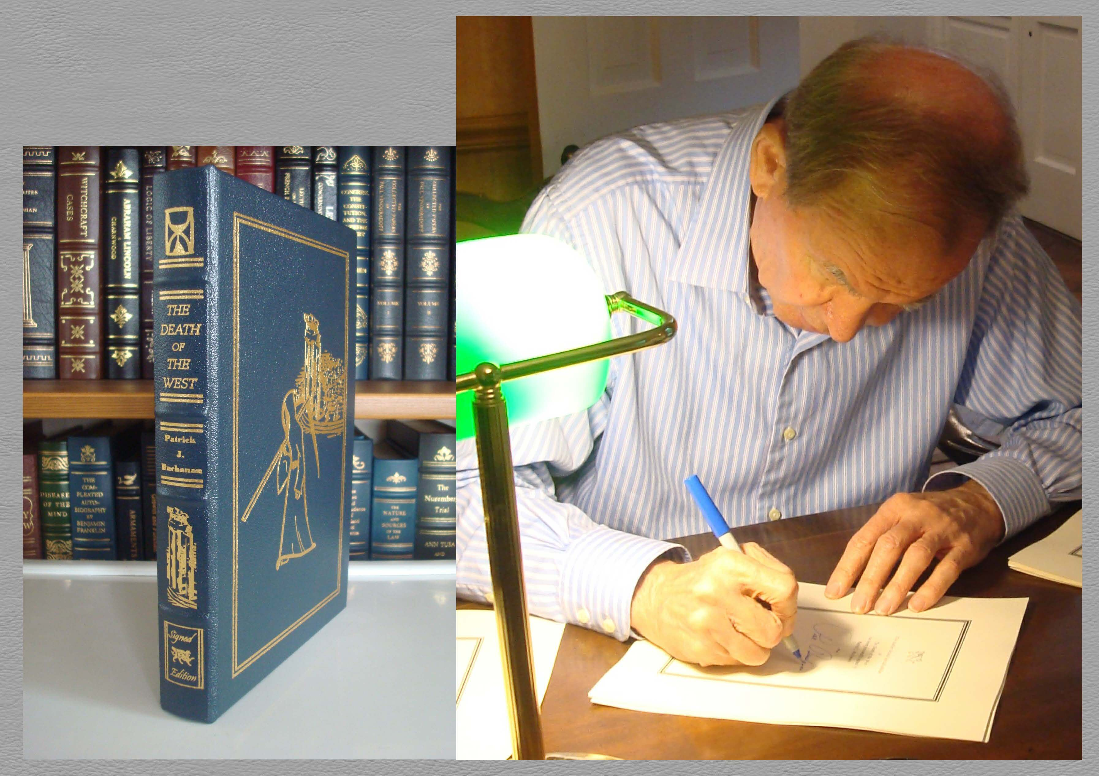 Death of the West - Leather Bound and Signed by Pat Buchanan