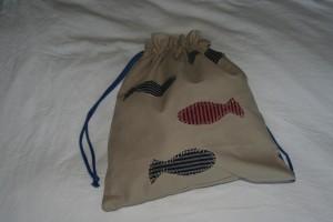sac à doudou côté poissons