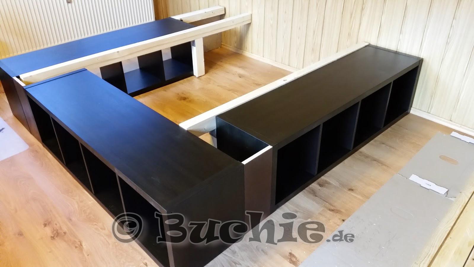 Ikea Hack - so wird aus Kallax Regalen ein Bett - Buchie.de