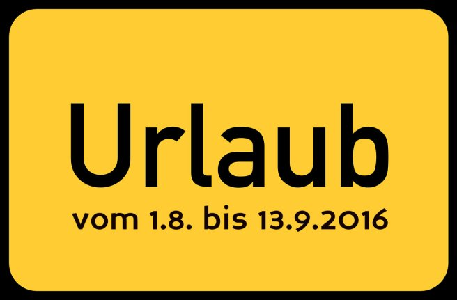 Urlaub August - September