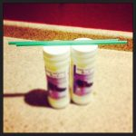 two starbucks straws.