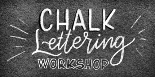 chalk lettering workshop
