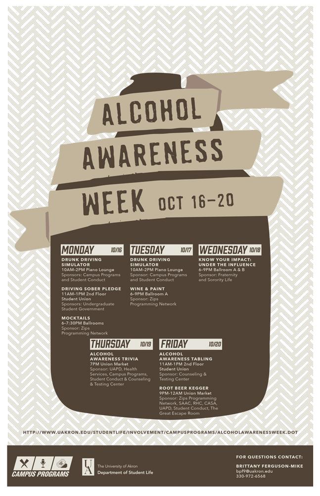 alcohol awareness week at ua the