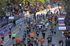 Coming to the Finish Line - zoomed out - running