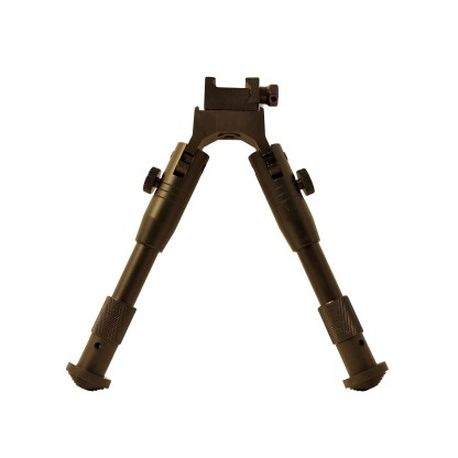 Picatinny or weaver mounting folsing bipod in the upright position