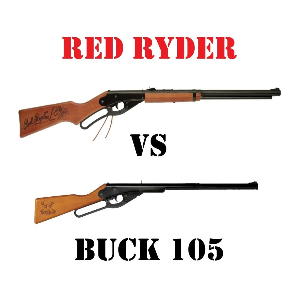Red Ryder vs Buck 105 in same frame