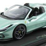 Bbr Models P18183d Vet Scale 1 18 Ferrari F8 Tributo Spider 2019 Con Vetrina With Showcase Verde Francese Light Green Met