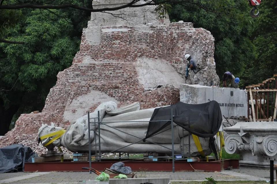 Resultado de imagen para monumento de colon traslado la nacion