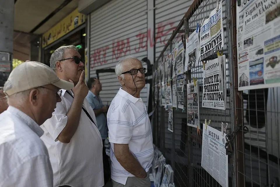 A horas del vencimiento, Grecia confirma que no pagará al FMI y caerá en default Foto:EFE