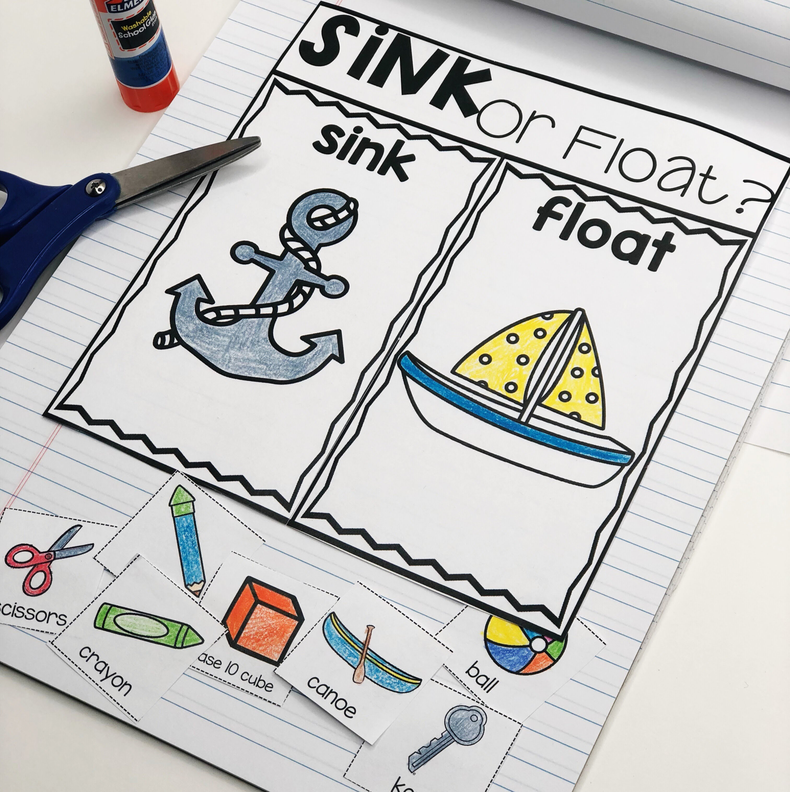 Free Sink Vs Float Worksheet
