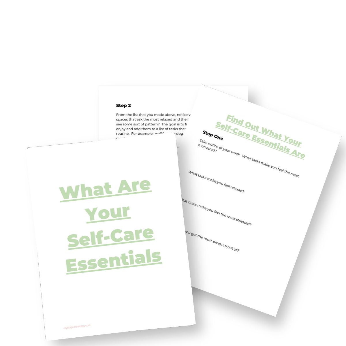 Self Care Essentials Worksheet