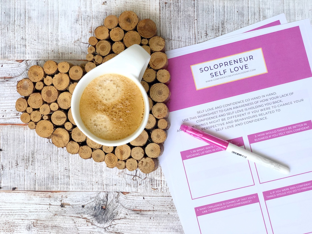Solopreneur Self Love Worksheet