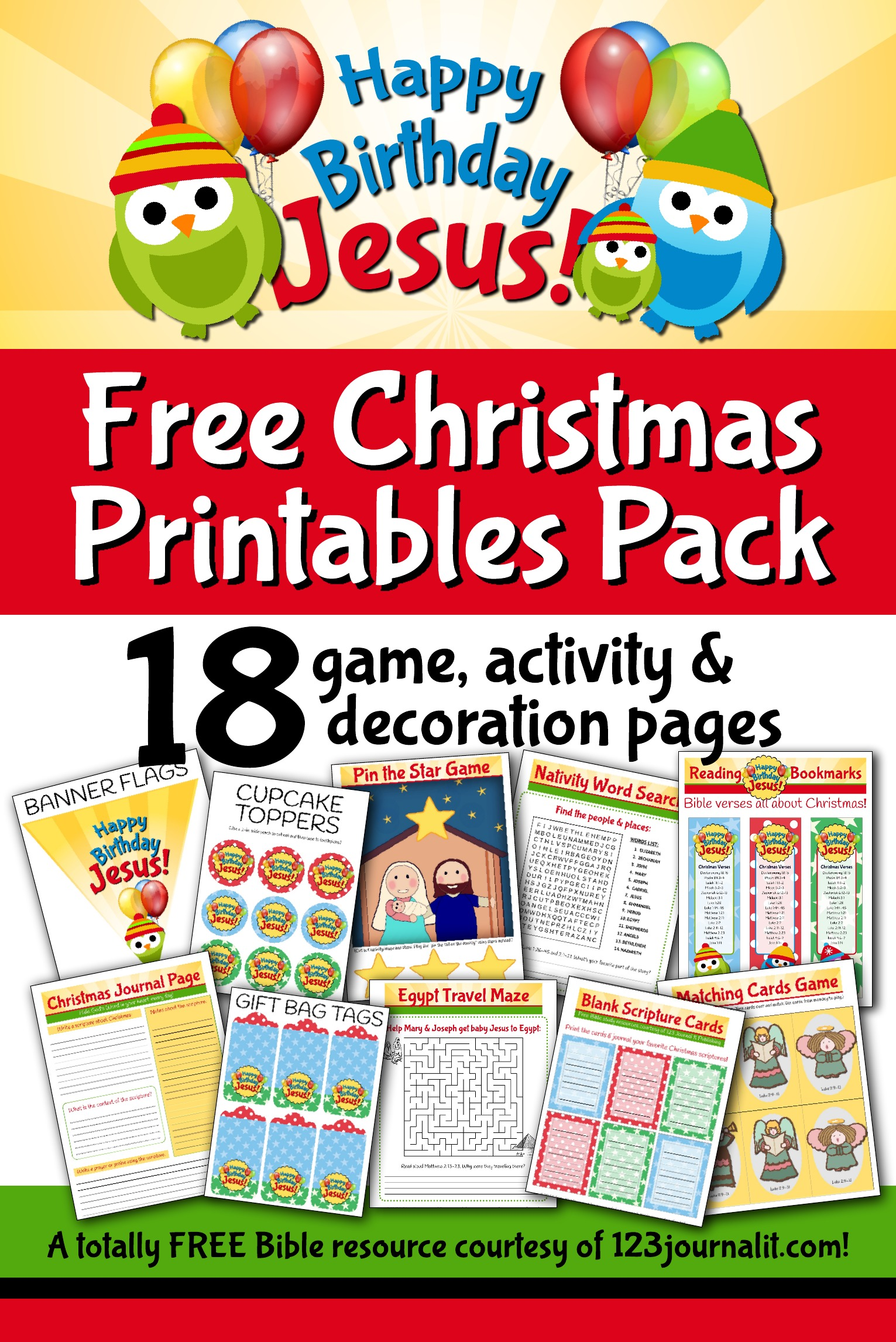 Free Happy Birthday Jesus Printable Party And Activity