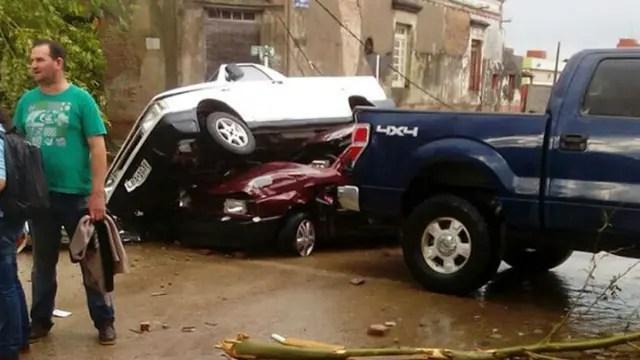 El tornado causó destrozos en Dolores