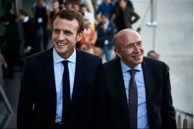 Macron con Collomb, en 2016