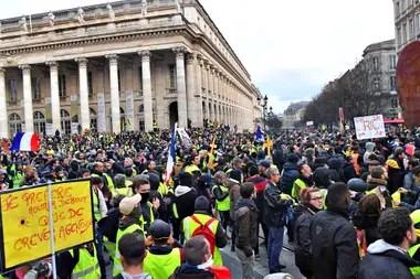 Protesta de los chalecos amarillos en Bordeaux
