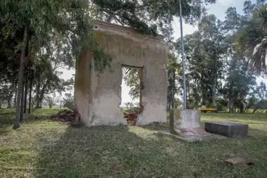 Los restos de la casa de Timote donde fue encontrado el cuerpo de Pedro Eugenio Aramburu