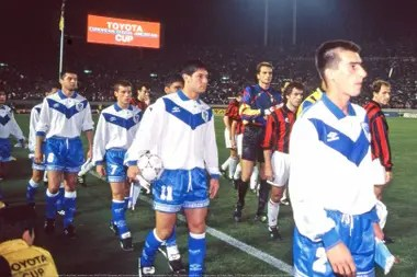 Trotta, captain of Vélez when he won the world final against Milan in 1994