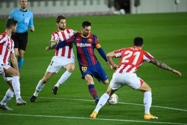 Barcelona - Athletic Bilbao, por la Liga de España: Lionel Messi abrió el  marcador con un estupendo gol de tiro libre - LA NACION