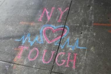 Los mensajes de los vecinos a los trabajadores de la salud, en Morninside Heights