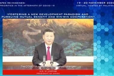 El presidente de China, Xi Jinping, pidió una cooperación internacional más estrecha para la vacuna contra el coronavirus