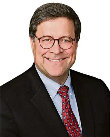 William Barr, fiscal general. Lideró el Departamento de Justicia con George H.W. Bush, y es una figura respetada entre los republicanos
