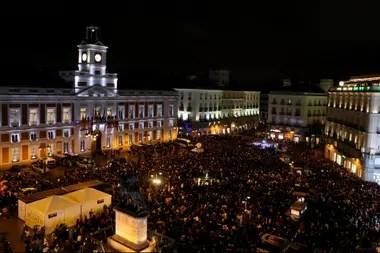 Miles de venezolanos marcharon hasta Puerta del Sol