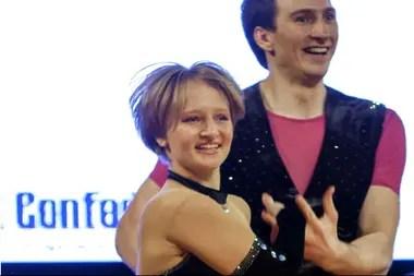 Katerina, la supuesta hija mayor de Putin, durante una competencia de baile en Polonia, en 2014