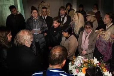 Último adiós a Beatriz Salomón en el Cementerio de la Chacarita