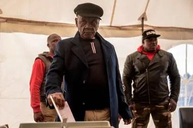 Thomas Thabane, durante las votaciones de 2017, en Lesotho