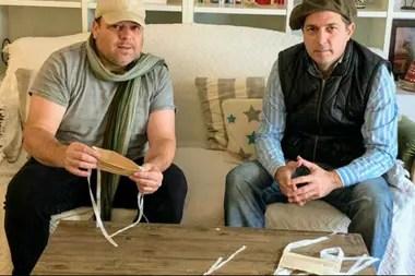 Los hermanos Zorrilla con su empresa Pringamosa fabrican 3000 barbijos diarios