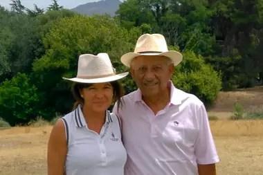 Vicente Chino Fernández y su esposa.
