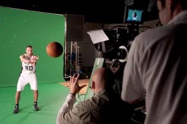 2012, Manu en el Media Day de San Antonio Spurs