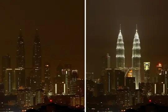Las torres Petronas en Malasia también son un clásico de esta iniciativa. Foto: EFE