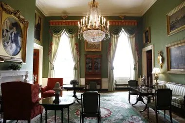 The Green Room of the White House