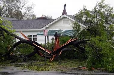 Un dron muestra la devastación provocada por el huracán Florence, que ya dejó 13 muertos