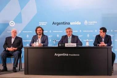 Ginés González García, Santiago Cafiero, Alberto Fernández y Eduardo De Pedro