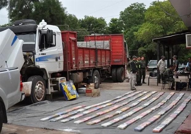 Gendarmería decomisó más de 267 kilogramos de cocaína