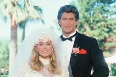 Hasselhoff vivió un romance en la ficción con quien era su novia en la vida real, la actriz Catherine Hickland