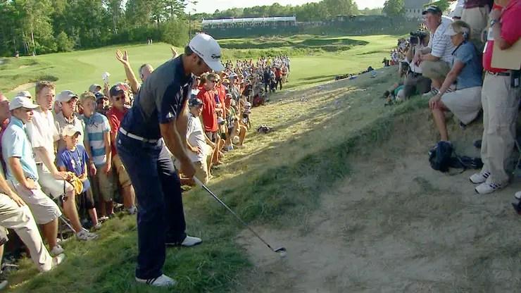 PGA Championship 2010: Dustin Johnson fue penalizado por apoyar el palo y no saber que se trataba de un búnker