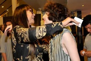 Apoyo. Moria Casán no se quiso perder el estreno de la nueva película de su hija