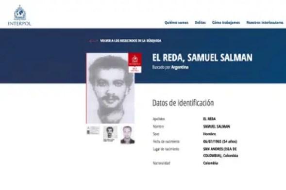 La circular roja de Interpol sobre Salman El Reda